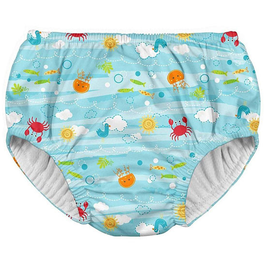 i play. Mix & Match Snap Reusable Swimsuit Diaper - Sea Friends_thumb1