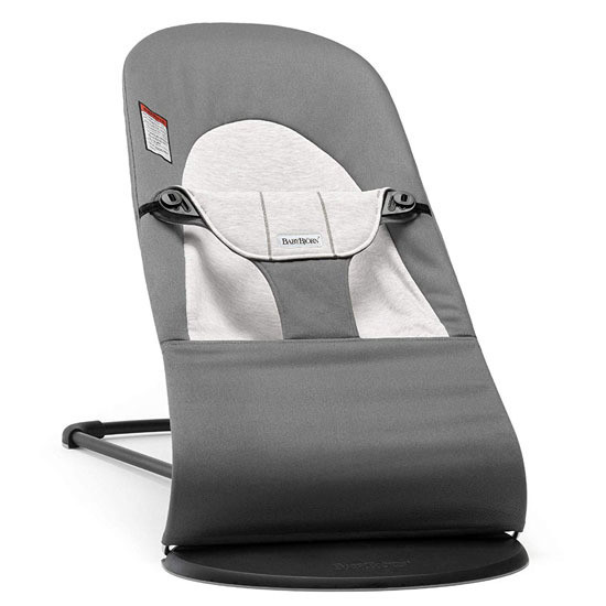 Baby Bjorn Bouncer Balance Cotton Jersey Dark Grey