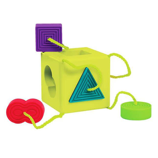 FAT BRAIN Oombee Cube Shape Sorter/Teether Product