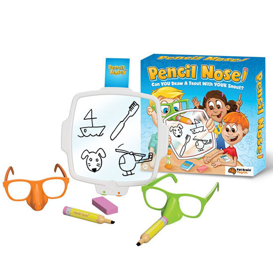FAT BRAIN Pencil Nose Game Product
