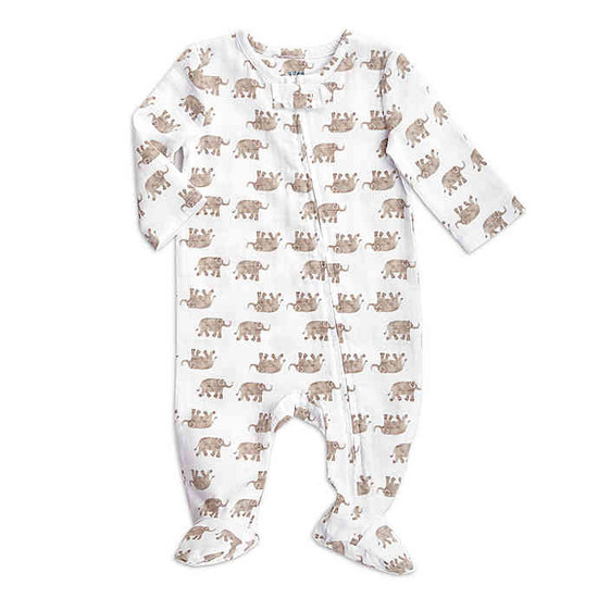 aden + anais Elephants Hatch Footie - Brown