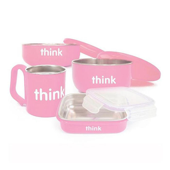 ThinkBaby Complete BPA Free Feeding Set in Pink