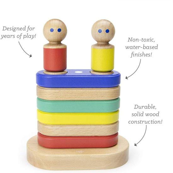 Tegu Magnetic Floating Stacker Building Block Set - Big Top Learning