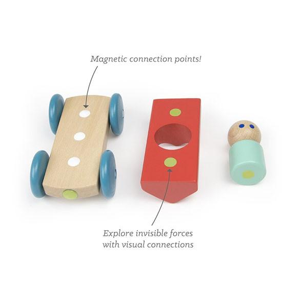 Tegu Magnetic Racer - Poppy Set