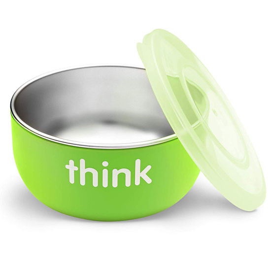 ThinkBaby High Rise BPA Free Baby Bowl - Green Main