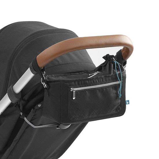 Babymoov Premium Universal Stroller Organizer - Grey Latch On