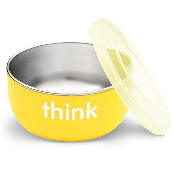 ThinkBaby High Rise BPA Free Baby Bowl - Yellow Main
