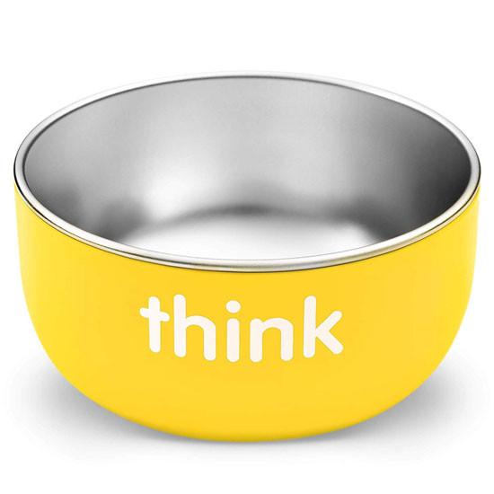ThinkBaby High Rise BPA Free Baby Bowl - Yellow Open