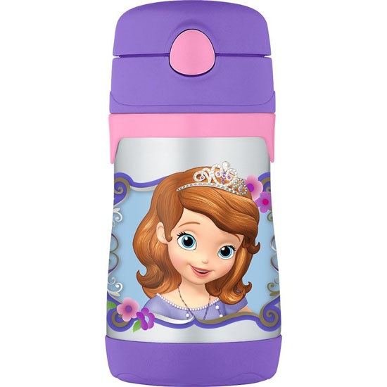 Thermos Stainless Steel Straw 10 oz Bottle - Sofia The First