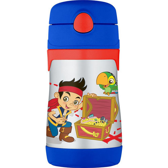 Thermos Stainless Steel Straw 10 oz Bottle - Jake and The Neverland Pirates Product