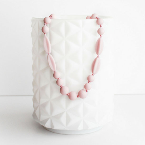 Teether Addison Teether Necklace - Pale Pink
