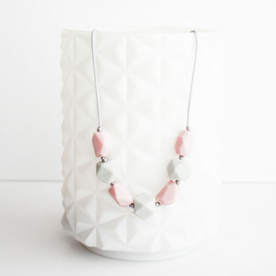 Little Teether Harper Teether Necklace - Pale Pink Main