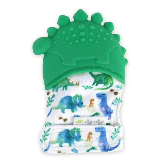 Itzy Ritzy Silicone Teething Mitt - Dino Product