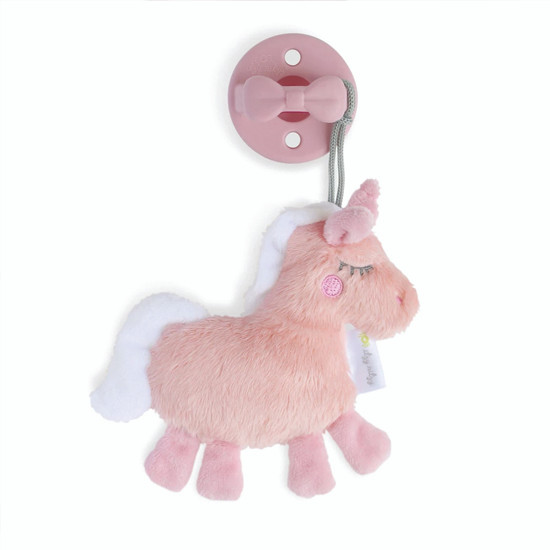Itzy Ritzy Pacifier and Lovey Set - Unicorn