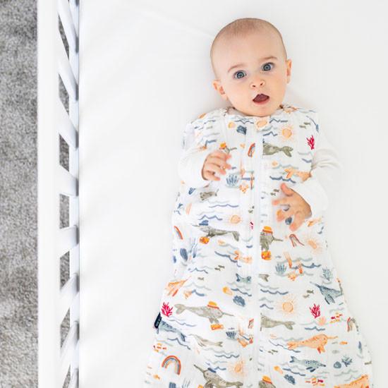 Bebe Au Lait Muslin Bedtime Sleeper - Narwhal Baby