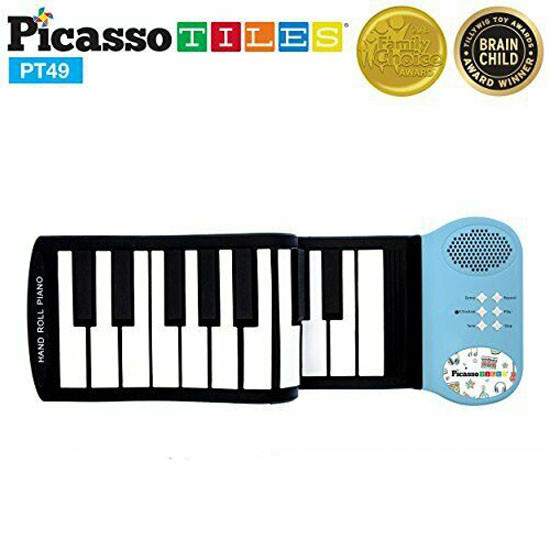 PicassoTiles PT49 Kid's 49-key Flexible Roll-up Piano Main