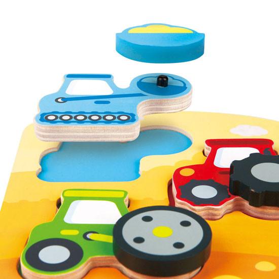 Hape Dynamic Construction Car Puzzle