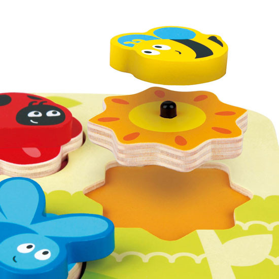 Hape Dynamic Insect Puzzle Feature