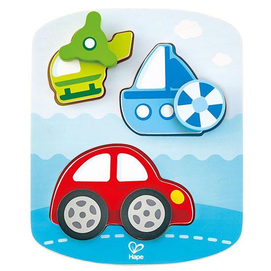 Hape Dynamic Vehicle Puzzle Set