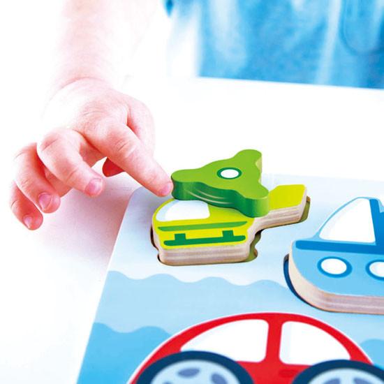 Hape Dynamic Vehicle Puzzle Feature