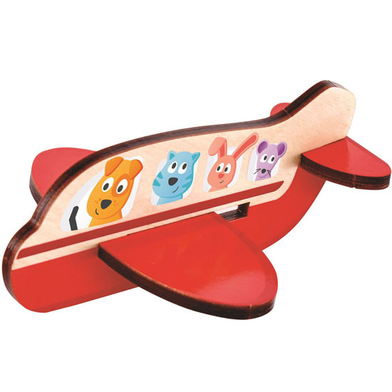 Hape 3D Airplane Puzzle Play
