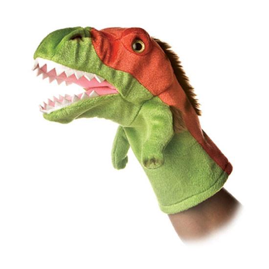 Aurora Plush Velociraptor Dinosaur Stage Puppet Feature
