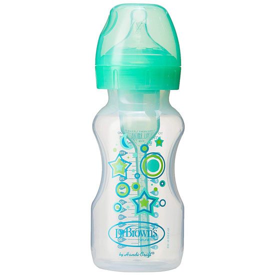 Dr. Brown 2-in-1 Options+ Narrow-Neck Bottle with Sippy Spout Kit Green