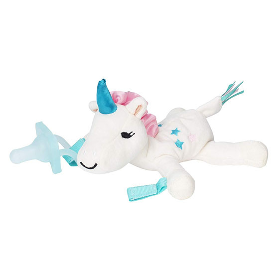 Dr. Brown Lovey Pacifier & Teether Holder - Unicorn Main