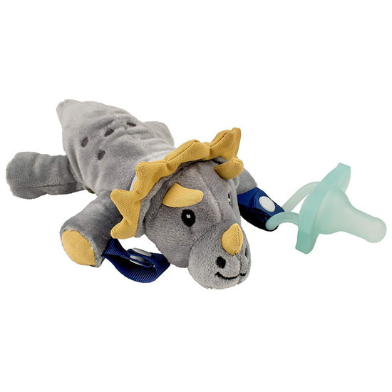 Dr. Brown Lovey Pacifier & Teether Holder - Triceratops Main