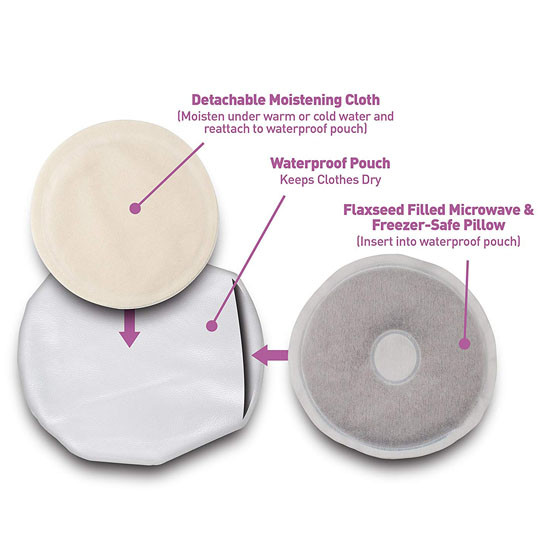 Dr. Brown Rachel's Remedy Natural Breast Relief Pads Set