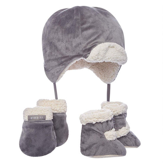 JJ Cole Bomber Hat Set Graphite