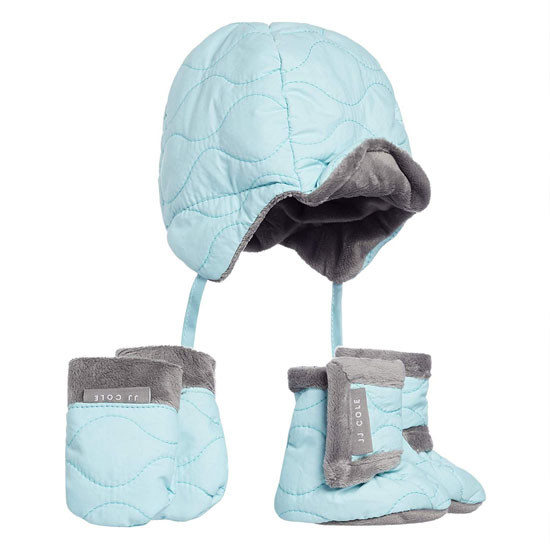 JJ Cole Bomber Hat Set Aqua