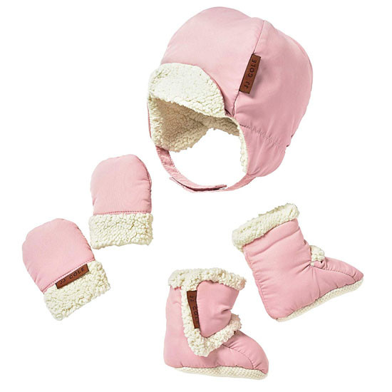 JJ Cole Bomber Hat Set Blush