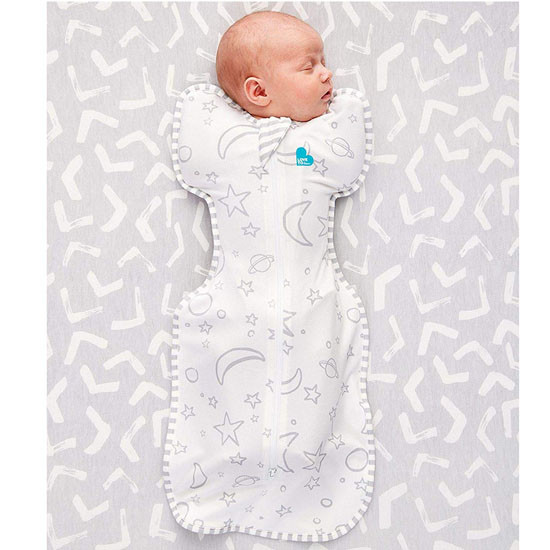 Love to Dream Swaddle Up Silky Lux - Grey with Baby