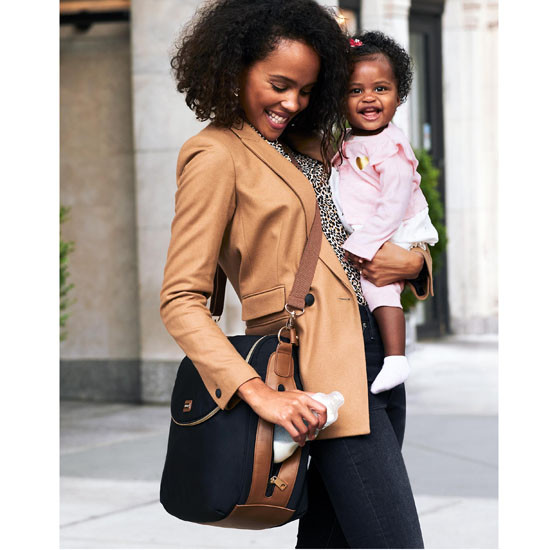 Skip Hop Curve Diaper Satchel Bag Backpack Lifestyle