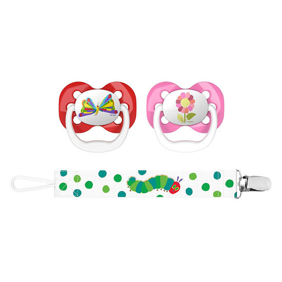 Dr. Brown Advantage Pacifier with Pacifier Clip - Butterfly & Flower Main