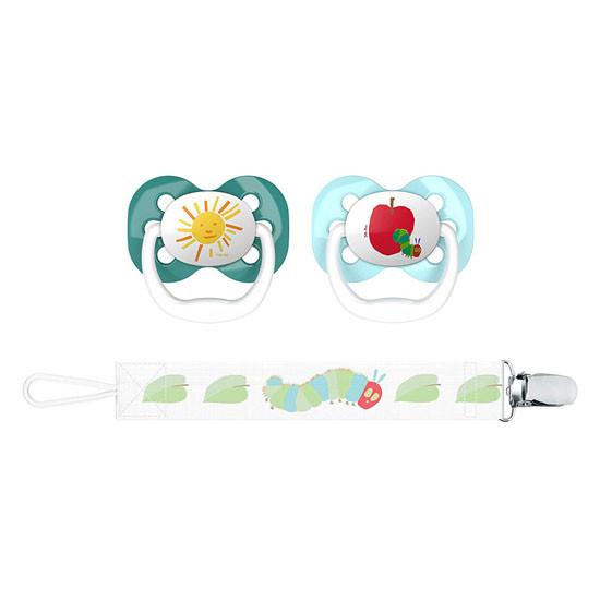 Dr. Brown Advantage Pacifier with Pacifier Clip - Sun & Apple Main