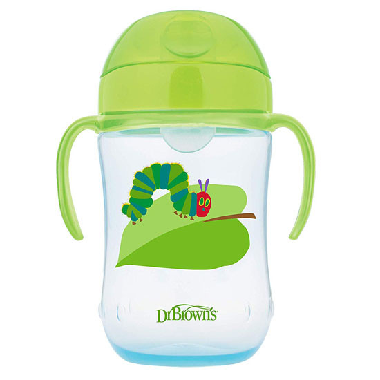 Dr. Brown's The Very Hungry Caterpillar Soft-Spout Straw Cup - Green
