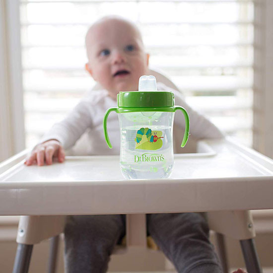 Dr. Brown's The Very Hungry Caterpillar Soft-Spout Straw Cup Lifestyle