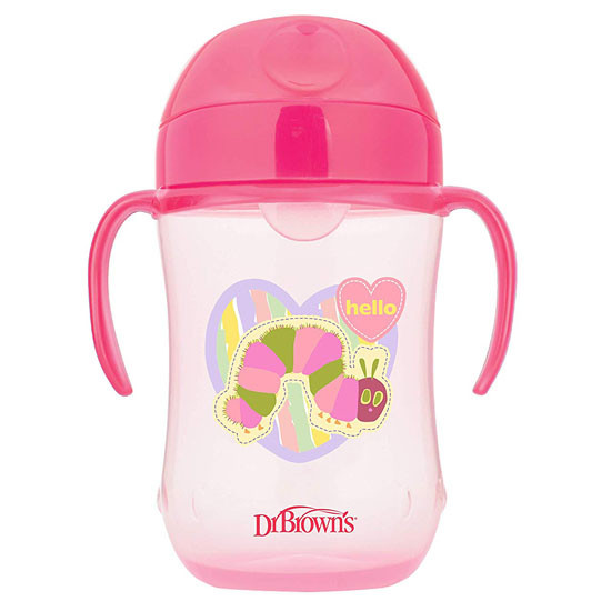 Dr. Brown's The Very Hungry Caterpillar Soft-Spout Straw Cup - Pink
