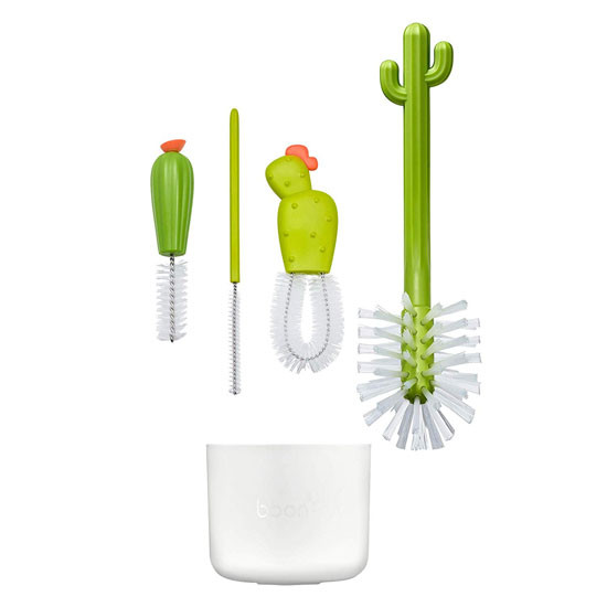 Boon CACTI Bottle Cleaning Brush Set Features