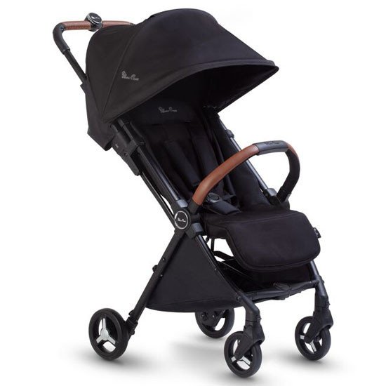 Silver Cross 2020 Jet Ultra Compact Stroller Main Black