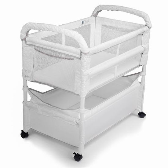 Arms Reach Clear-Vue Co-Sleeper White