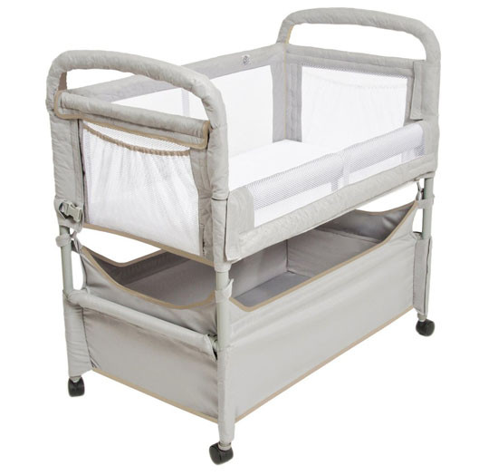 Arms Reach Clear-Vue Co-Sleeper Grey