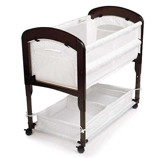Arms Reach Cambria Co-Sleeper Espresso White