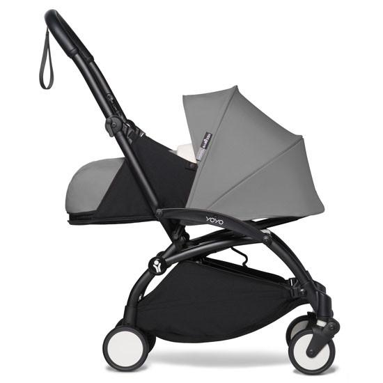 BABYZEN YOYO2 COMPLETE Newborn Stroller - Black Frame Side Profle