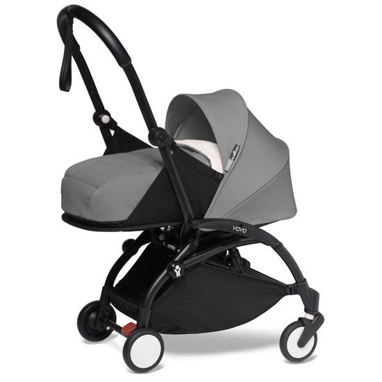 BABYZEN YOYO2 COMPLETE Newborn Stroller - Black Frame Grey