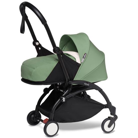BABYZEN YOYO2 COMPLETE Newborn Stroller - Black Frame Peppermint
