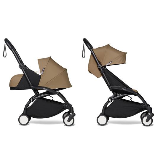BABYZEN YOYO2 COMPLETE Stroller with Newborn Set - Black Frame Toffee