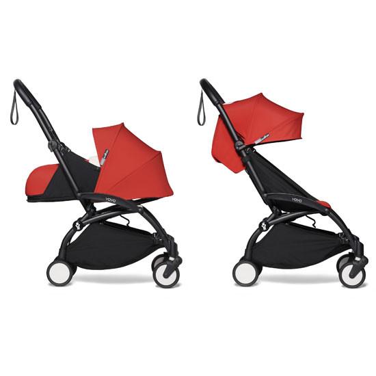 BABYZEN YOYO2 COMPLETE Stroller with Newborn Set - Black Frame Red